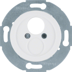 450820 Insert with centre plate for small connector polar white glossy