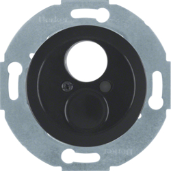 450821 Insert with centre plate for small connector black glossy