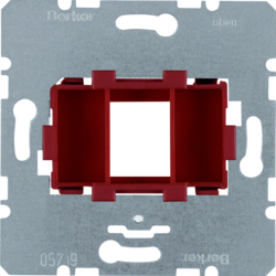 454001 Supporting plate with red mounting device 1gang for modular jack Communication technology