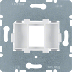 454002 Supporting plate with white mounting device 1gang for modular jack Communication technology