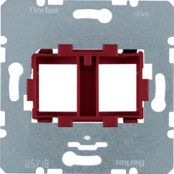 454101 Supporting plate with red mounting device 2gang for modular jacks Communication technology