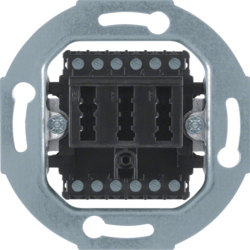 454405 TAE socket outlet 2x6/6 NFF Communication technology,  black matt