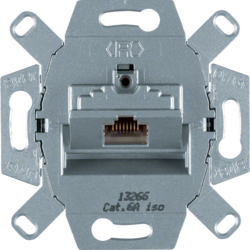 4586 FCC socket outlet 8pole shielded,  cat.6A iso Communication technology