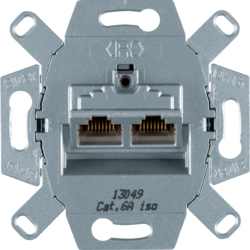 4587 FCC socket outlet 8/8pole shielded,  cat.6 iso Communication technology