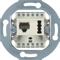 458802 FCC/TAE socket outlet 8(6)pole/6 F + N cat.3 Communication technology,  white matt