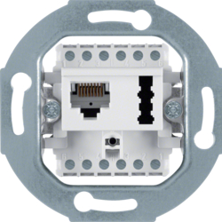 458809 FCC/TAE socket outlet 8(6)pole/6 F + N cat.3 Communication technology,  polar white matt