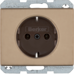 47140001 SCHUKO socket outlet Berker Arsys,  light bronze matt,  aluminium lacquered