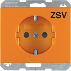 "47150077 SCHUKO socket outlet with ""ZSV"" imprint Berker Arsys,  orange glossy"