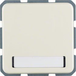 4719 SCHUKO socket outlet with hinged cover Labelling field,  Splash-protected flush-mounted IP44, white glossy