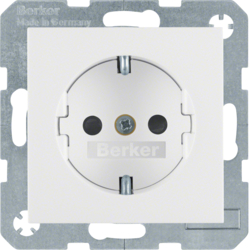 47238989 SCHUKO socket outlet with enhanced touch protection,  polar white glossy