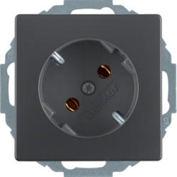 47276086 SCHUKO socket outlet 45° anthracite velvety,  lacquered