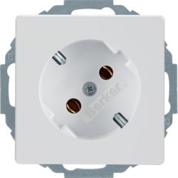 47276089 SCHUKO socket outlet 45° polar white velvety