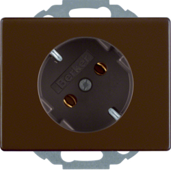 47280001 SCHUKO socket outlet 45° Berker Arsys,  brown glossy