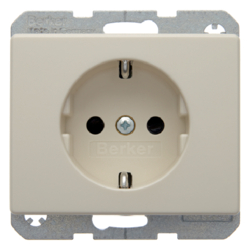 47350002 SCHUKO socket outlet with enhanced touch protection,  Berker Arsys,  white glossy