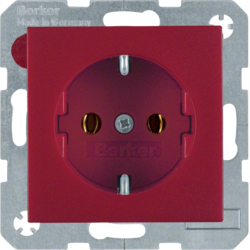 47431912 SCHUKO socket outlet red matt