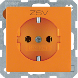 "47436007 SCHUKO socket outlet with ""ZSV"" imprint orange velvety"