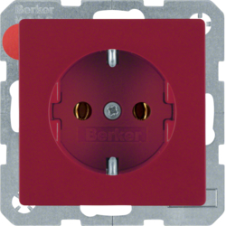 47436012 SCHUKO socket outlet red velvety