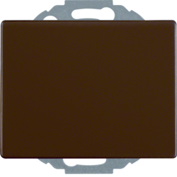 47470001 SCHUKO socket outlet with hinged cover enhanced contact protection,  Mounting orientation variable in 45° steps,  Berker Arsys,  brown glossy