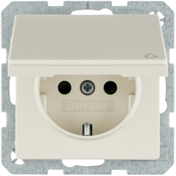 47516072 SCHUKO socket outlet with hinged cover with enhanced touch protection