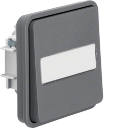50413515 Push-button insert,  NO contact with rocker surface-mounted/flush-mounted with labelling field - illuminated,  Berker W.1, grey matt