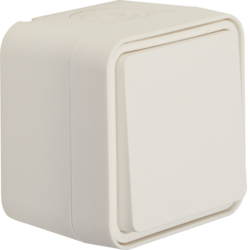 50453522 Push-button,  NO contact surface-mounted Berker W.1, polar white matt