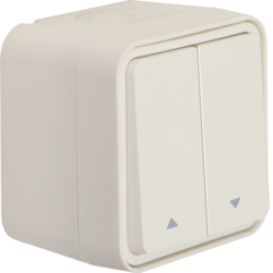 50753532 Blind series push-button with imprinted symbol arrow surface-mounted Berker W.1, polar white matt