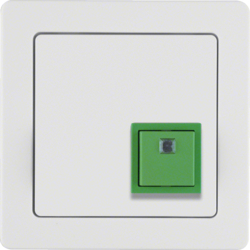 52016089 Cancellation button with frame Berker Q.1, polar white velvety