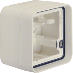 6118913502 Housing with frame surface-mounted Berker W.1, polar white matt