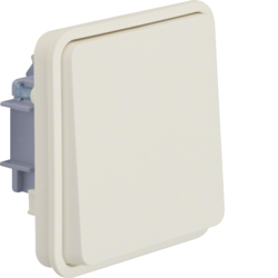 6130763512 Change-over switch insert with rocker surface-mounted/flush-mounted Berker W.1, polar white matt