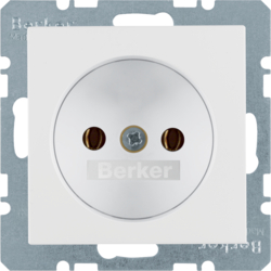6167031909 Socket outlet without earthing contact polar white matt