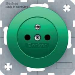 6765762003 Socket outlet with earthing pin with enhanced touch protection,  Screw-in lift terminals,  green glossy