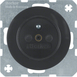 6765762045 Socket outlet with earthing pin with enhanced touch protection,  with screw-in lift terminals,  black glossy