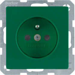 6765766013 Socket outlet with earthing pin with enhanced touch protection,  with screw-in lift terminals,  green velvety