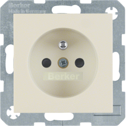 6768768982 Socket outlet with earthing pin with enhanced touch protection,  white glossy