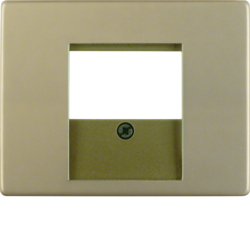 6810340001 Centre plate with TDO cut-out Berker Arsys,  light bronze matt,  aluminium lacquered