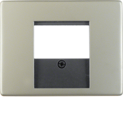 6810340004 Centre plate with TDO cut-out Berker Arsys,  stainless steel,  metal matt finish