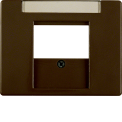 6810350001 Centre plate with TDO cut-out Labelling field,  Berker Arsys,  brown glossy