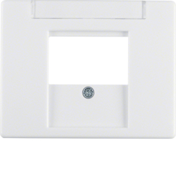 6810350069 Centre plate with TDO cut-out Labelling field,  Berker Arsys,  polar white glossy