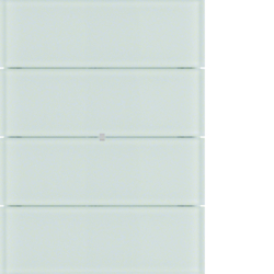75164590 B.IQ push-button 4gang comfort glass polar white