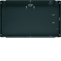 "75900110 Flush-mounted housing for 10"" touch panel KNX,  anthracite,  lacquered"