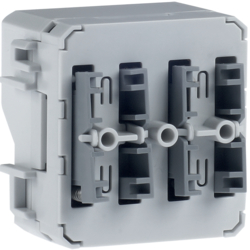 80141400 Push-button module 2gang surface-mounted/flush-mounted with integral bus coupling unit