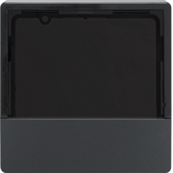 80960126 Cover for KNX thermostats and room controllers anthracite velvety,  lacquered