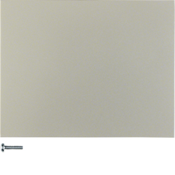 85141173 Button 1gang stainless steel matt,  lacquered