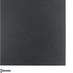 85141185 Button 1gang anthracite matt,  lacquered