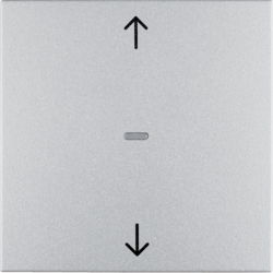 85245183 KNX radio blind button quicklink aluminium,  matt,  lacquered