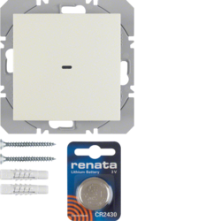 85655282 KNX radio wall-transmitter 1gang flat quicklink white glossy