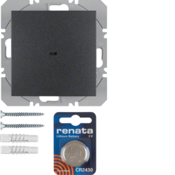 85655285 KNX radio wall-transmitter 1gang flat quicklink anthracite,  matt