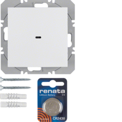 85655289 KNX radio wall-transmitter 1gang flat quicklink polar white glossy