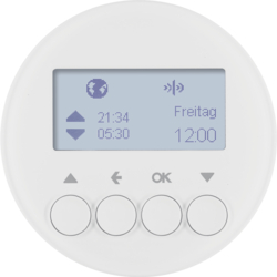85745139 KNX radio blind time switch quicklink with display,  polar white glossy
