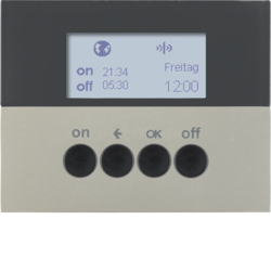 85745273 KNX radio timer quicklink with display,  stainless steel matt,  lacquered